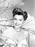 Esther Williams smiling in White Dress