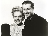 Alice Faye Taking a Picture with a Guy