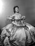 Greer Garson on a Silk Ball Gown sitting