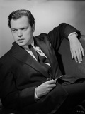 Orson Welles Reclining in Coat and Tie