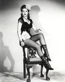 Ann Miller sitting in Classic Portrait