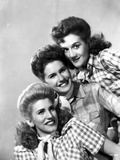 Andrew Sisters on Checkered Top Portrait