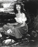 Loretta Young Lady taking a Bath in River