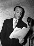 Fred Astaire Reading in Black and White