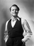 Orson Welles Posed in Vest and Polo