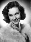 Maureen O'Sullivan on a Furry Shawl