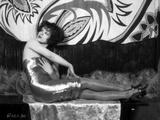 Clara Bow Posed in Shiny Tube Dress
