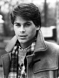 Rob Lowe in Coat Black and White Portrait