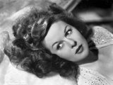 Susan Hayward Lying in Beaded Dress