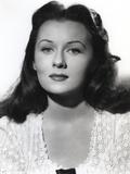 Rhonda Fleming Posed in White Blouse