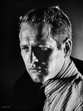 Paul Newman Portrait in Stripes Polo
