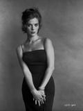 Natalie Wood posed in a Black Dress