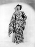 Anna Wong wearing a Long Floral Dress