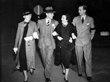Fred Astaire Walking in Black and White