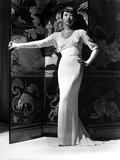 Anna Wong wearing a White Long Gown