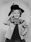 Shirley Temple Saluted in Black Hat