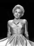 Eva Gabor on a Silk Dress Reclining