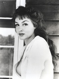 Julie Newmar in White Dress Portrait