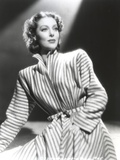 Loretta Young Striped Long Coat Dress
