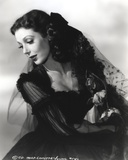 Loretta Young Black Screen Long Dress