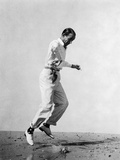 Fred Astaire Leaping in Black and White