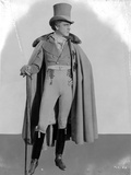 John Barrymore Posed in Cape and Top Hat