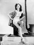 Susan Hayward Posed with a Sexy Dress