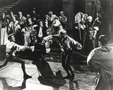 Laurence Olivier Fencing Black and White