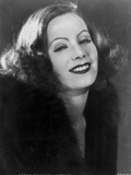 Greta Garbo smiling Close Up Portrait