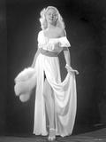 Gloria Grahame Posed in White Dress