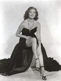 Rhonda Fleming wearing a Black Gown