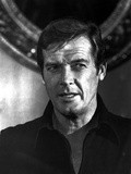 Roger Moore in Black With Black and White