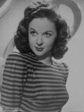 Susan Hayward Posed in Stripe Long Sleeve