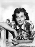 Gail Russell Posed in Checkered Shirt