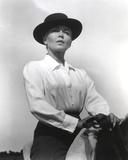 Lana Turner Riding Horse Black and White