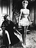 Lana Turner Portrait in White Lingerie