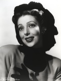 Loretta Young posed with Black Gloves