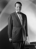 Orson Welles Posed in Bowtie and Coat