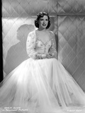 Gracie Allen Posed wearing White Gown