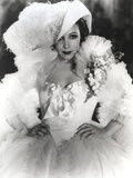 Dolores Del Rio Posed in White Gown