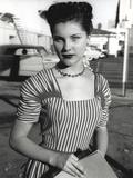 Debra Paget in Stripes Gown Portrait