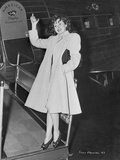 Susan Hayward Posed in a White Coat
