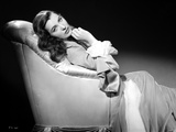 Ella Raines on a Gown sitting and posed