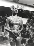 Lana Turner Portrait in Floral Dress