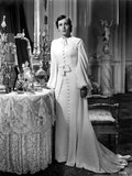 Luise Rainer on a Dress and standing