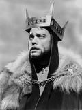 Orson Welles Portrait in Feather Coat
