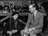 Fred Astaire Seated in Suit with Girl