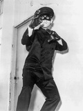 Bruce Lee in Black Suit Fighting Pose