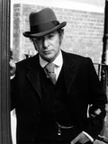 Michael Caine in Black Suit With Hat