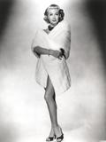 Lana Turner in White Bathrobe Portrait